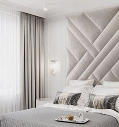 upholstered wall panels fully customised Upholstered wall panels set, sizes from up to if you wish other /customised … Headboard Designs, Upholstered Wall Panels, Walls Room, Luxurious Bedrooms, Upholstered Walls, Bedroom Wall, Bed Headboard Design, Wall Paneling, Luxury Bedroom Master