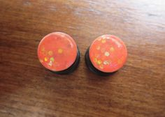 BOGO Coral Fish Scale Plugs by ManicMakings on Etsy, $12.00