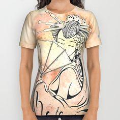 #Vintage# japanese #geisha #girl All Over Print #Shirt