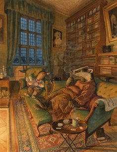 Chris Dunn Illustration/Fine Art: 'Telling Tales' and other artworks Chris Dunn, Art Calendar, Rabbit Art, Cute Illustration, Forrest Illustration, Retro Illustrations, Whimsical Art, Amazing Art, Fantasy Art