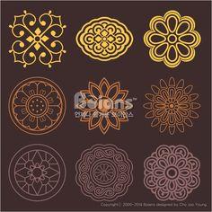 꽃과 식물 문양 패턴. 한국 전통문양 패턴디자인. (BPTD020196) Flower and Plant Pattern Design. Korean traditional Pattern is a Pattern Design. Copyrightⓒ2000-2014 Boians.com designed by Cho Joo Young.