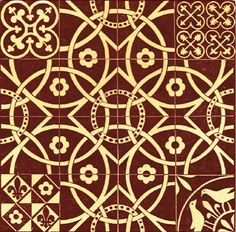 Ceramic paving tiles from the Chapter House, Westminster Abbey, based on original century design. Medieval Pattern, Medieval Art, Medieval Games, Victorian Tiles, Antique Tiles, Shetland, Ceramic Mosaic Tile, Encaustic Tile, Westminster Abbey