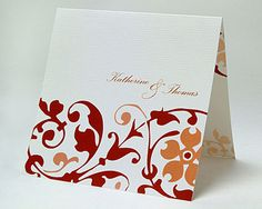 Cinnamon Vine Wedding Invitation -This invitation is also available in other colours - www.kardella.com