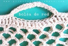 Bolsa de red: tutorial Crochet Diy, Easter Crochet, Love Crochet, Single Crochet, Net Bag, Knitted Bags, Stitch Design, Crochet Designs, Crochet Earrings