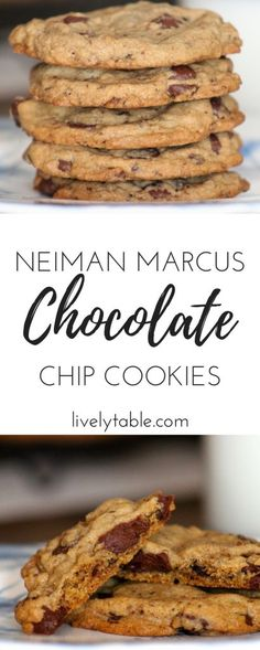 The delicious recipe for the famous Neiman Marcus Chocolate Chip Cookies via livelytable.com