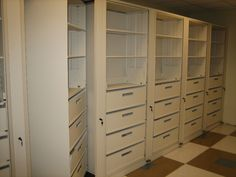 Rotary Cabinet with Drawer and Shelf Storage for multiple storage applications in an office environment. Drawers for loose or smaller items and shelving for books, binders and files. Multiple storage needs handled in a single rotary unit.