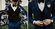 Bryce Harper Lined His Tuxedo Jacket With Photos of His Bride on Their Wedding Day