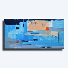 ABSTRACT PAINTING Blue Orange Gray White Painting by itarts