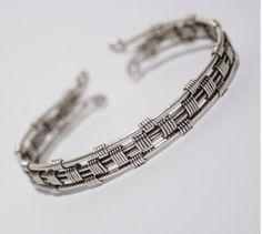 Silver cuff bracelet-mens bracelet-cuff bracelet man-wire wrapped bracelet-mens…