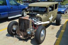 #RatRod we spotted at the Tallmadge store.  Check out the overflow catch can.