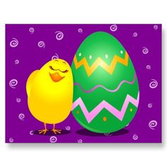 $0.95 Easter chick by PinkHurricane  #postcard