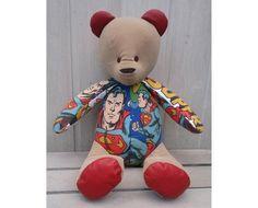 Vintage Fabrics, Uk Shop, Superman, Bespoke, Bears, Teddy Bear, Trending Outfits, Unique Jewelry, Toys