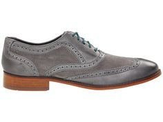 Cole Haan Air Colton Casual Wing Tip Charcoal Grey Suede/Charcoal Grey