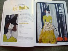 Carrie is such a talented quilter who makes lovely doll (art) quilts. Many of her work are very inspirational and are even published!