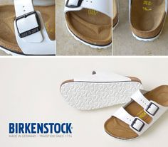Meet our latest obsession! Birkenstock Arizona White in Leather Patent Shop: Birkenstock Arizona White, White Sandals, Meet, Winter, Leather, Shopping, Shoes, Winter Time, Zapatos