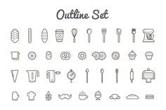 Ad: Awesome Bakery Icons and Logo Set by Ckybe's Corner on This pack contains all vector and raster Bakery/Pastry elements and icons you need for all purposes you need with logotype samples. Bakery Branding, Logo Branding, Branding Design, Bakery Packaging, Corporate Branding, Menu Design, Brand Identity, Design Ideas, Baking Tattoo
