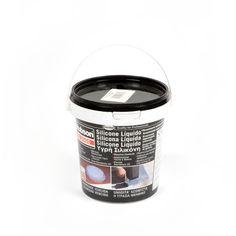 Silicona impermeable líquida - Silicona líquida impermeabilizante para cubiertas, goteras, terrazas, claraboyas, uniones y juntas en 4 colores: gris, blanco, teja y negro.