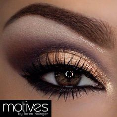 gold - purple makeup for brown eyes
