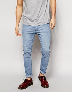 Cheap+Monday+Tight+Jeans+Skinny+Fit+in+Stonewash+Blue
