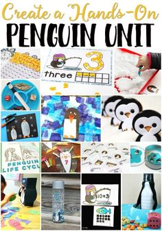 A comprehensive list of penguin unit activities! Sorted by skill & subject for easy browsing. What a great way to create a hands-on penguin theme for preschool! Winter Activities For Kids, Preschool Activities, Preschool Winter, Preschool Learning, Animal Activities, January Preschool Themes, Daycare Themes, Weather Activities, Speech Activities
