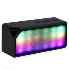 Portable X3S Mini Wireless Colorful LED Lights Speaker Bluetooth 2.0 Speaker Support Handsfree TF AUX FM Radio for Smartphone