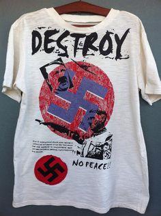 Vintage 80s Seditionaries t-shirt Nazi Punk Adolf Hitler The Clash Sex Pistol  on Etsy, $567.77