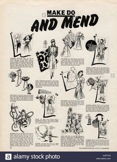 Download this stock image: 1940s UK Make Do and Mend Magazine Advert - EXPT4H from Alamy's library of millions of high resolution stock photos, illustrations and vectors.