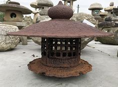 6 items ► 23.. ► old first ►  Antique Japanese Temple Lantern - 2301-0005