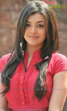 Kajal beautiful in red