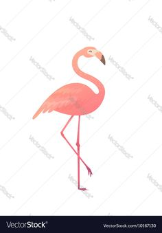 A pink flamingo Vector Image by Fay_Francevna