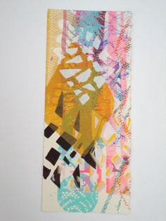 Scraps pt.1  hand pulled tapestry abstract screen print.