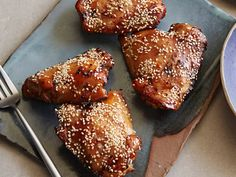 Teriyaki Chicken Thighs : Get all the flavors of your favorite Chinese takeout with a fraction of the sodium and carbs with these broiled chicken thighs drizzled in a delicious homemade teriyaki sauce.