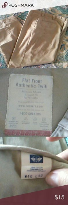 Mens pants Men's dockers flat front twill pants new without tags Dockers Pants Chinos & Khakis