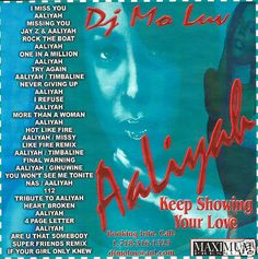 """Best Of Aaliyah"" Collection Hip Hop R Mixtape CD DJ Mo Luv"