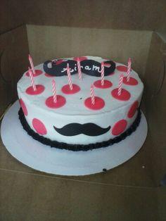 Her mustache cake