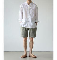 Japan Fashion, Look Fashion, Fashion Outfits, Boat Shoes Outfit, Mens Printed Shirts, Korean Fashion Men, Minimal Fashion, Ideias Fashion, Men Casual