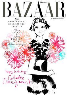 Harper's Bazaar cover Kerrie Hess for Collette Dinnigan