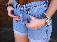 DIY High Waisted Shorts