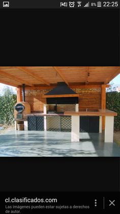 45 Awesome Outdoor Kitchen Ideas and Design - Pandriva Outdoor Bbq Kitchen, Backyard Kitchen, Outdoor Kitchen Design, Patio Design, Backyard Patio, Kitchen Decor, Outdoor Rooms, Outdoor Living, Outdoor Decor