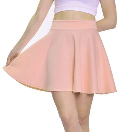 "Baby Dusty Pink Skater Skirt (18.5"" Length)"