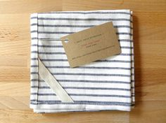 DISH TOWEL  linen black stripe by smallbatchproduction on Etsy, $20.00