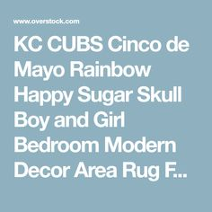 """KC CUBS Cinco de Mayo Rainbow Happy Sugar Skull Boy and Girl Bedroom Modern Decor Area Rug For Kids and Children(3' 11"""" x 5' 3"""")   Overstock.com Shopping - The Best Deals on 3x5 - 4x6 Rugs"""