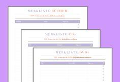 Merklisten für Bücher, CDs und DVDs