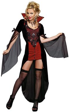 Killing Me Softly Vampire Halloween Costume - Calgary, Alberta. Take this Vampire costume up a notch with a devastatingly gorgeous choker and some heels! Head out for Halloween or some fun bedroom play! Don't forget your Vampire Fangs either!   This Halloween you can be the timeless sexy vampire in this Killing Me Softly costume. Guys better watch out, there is no denying the eternal beauty wearing this sexy Vampire costume.