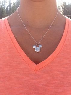 Silver Mickey Mouse Disney necklace on Etsy