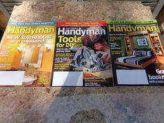 Handyman Magazines 3 Back Issues Crafting Woodwork by frstyfrolk