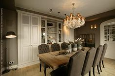 Tijdloos Landelijk | Jet Keukens Dining Table Chairs, Dining Area, Kitchen Dining, Dining Room, Belgian Style, Interior Inspiration, Family Room, Diner Ideas, Sweet Home