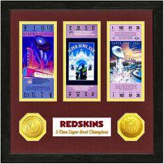 Washington Redskins Super Bowl Ticket Collection Wall Frame