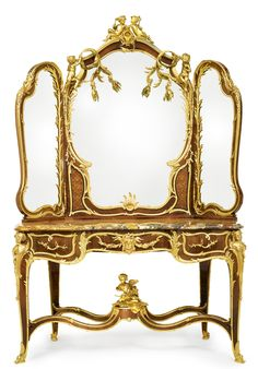 François Linke 1855 - 1946. A RARE GILT BRONZE MOUNTED KINGWOOD, SATINÉ AND FRUITWOOD MARQUETRY COIFFEUSE, INDEX NUMBER 1736, Paris, comissioned in 1907, and excecuted in 1908mostcertainly for Captain Joseph Raphael De Lamar