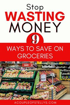 These 9 things will save you money when it comes to food and groceries. Stop wasting money with these simple tips. Groceries are the largest budget category to be able to reduce. Try these ways to stop wasting money today. #savemoney